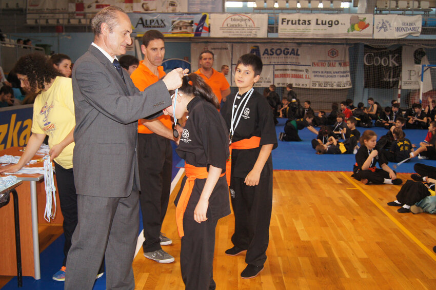 Centro deportivo Arco Verín - Campeonato wushu infantil Lugo 2016